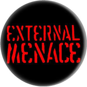 EXTERNAL MENACE LOGO button