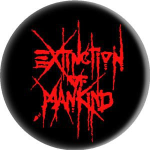 EXTINCTION OF MANKIND LOGO button