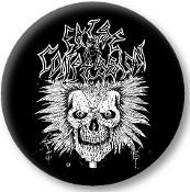 "FALSE CONFESSIONS - SKULL 1.5""button"