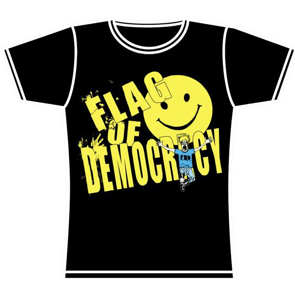 FLAG OF DEMOCRACY GIRLS TSHIRT