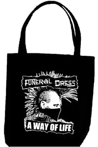 FUNERAL DRESS WAY tote