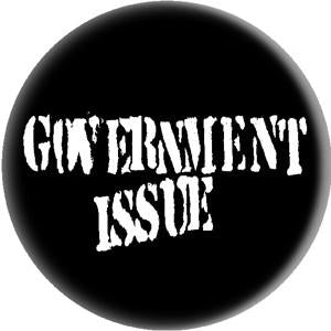 GOVERNMENT ISSUE LOGO button