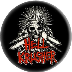 HELLKRUSHER SKULL button