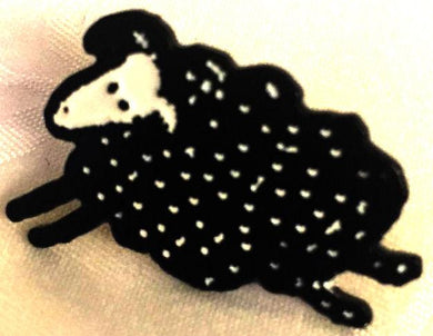 SHEEP ENAMEL BADGE