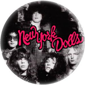 NY DOLLS PIC button