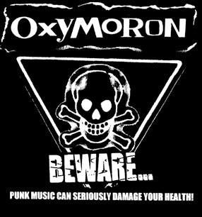 OXYMORON BEWARE back patch