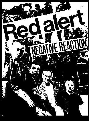 RED ALERT NEGATIVE back patch