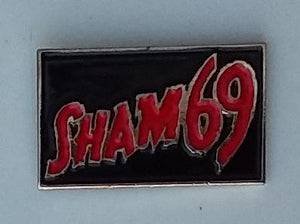 SHAM 69 ENAMEL BADGE