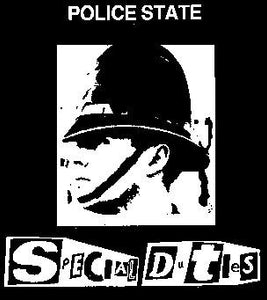 SPECIAL DUTIES POLICE back patch