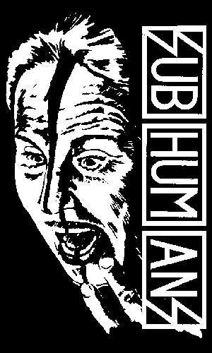 SUBHUMANS FACE sticker