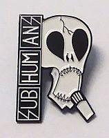 SUBHUMANS SKULL ENAMEL BADGE