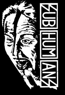 SUBHUMANS FACE back patch