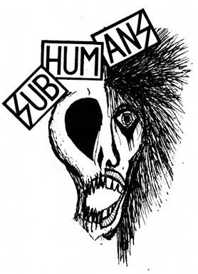 SUBHUMANS HALF SKULL back patch