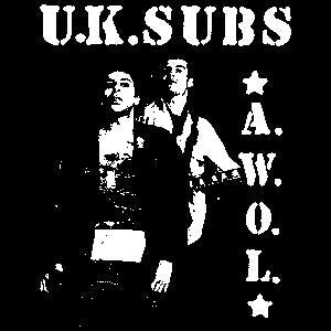 UK SUBS AWOL sticker