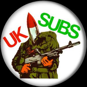 UK SUBS WARHEAD button