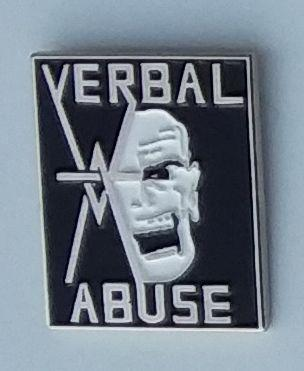 VERBAL ABUSE ENAMEL BADGE