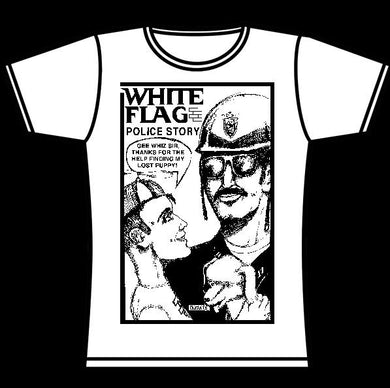 WHITE FLAG POLICE GIRLS TSHIRT