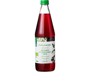 Änglamark Organic Blackcurrant Elderflower Syrup - NordicExpatShop