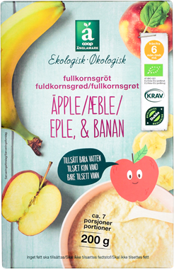 Änglamark Porridge Apple & Banana - NordicExpatShop