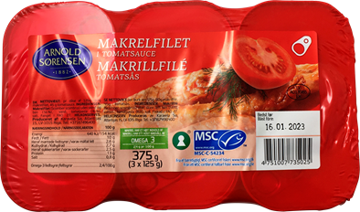 Arnold Sørensen Mackerel in Tomato Sauce 3-pack