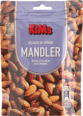 KiM's Almonds Roasted & Lightly Salted - NordicExpatShop