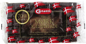 Carletti Dark Chocolate 70% Cacoa - NordicExpatShop