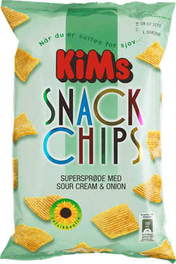 KiM's Sour Cream & Onion Chips - NordicExpatShop