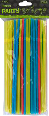 Colourful Straws 100stk. - NordicExpatShop