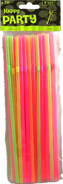 Colourful Straws 50stk. - NordicExpatShop