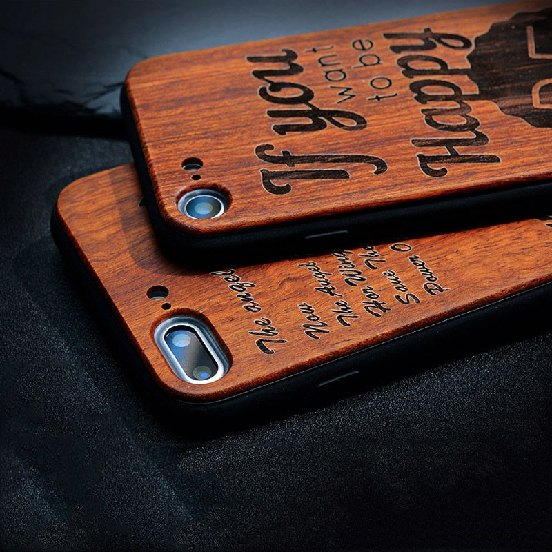 51224a2e8f ... BROEYOUE Wood Case For iPhone 5S 5 SE 6 6S Plus Bamboo Wooden TPU  Embossed Phone ...