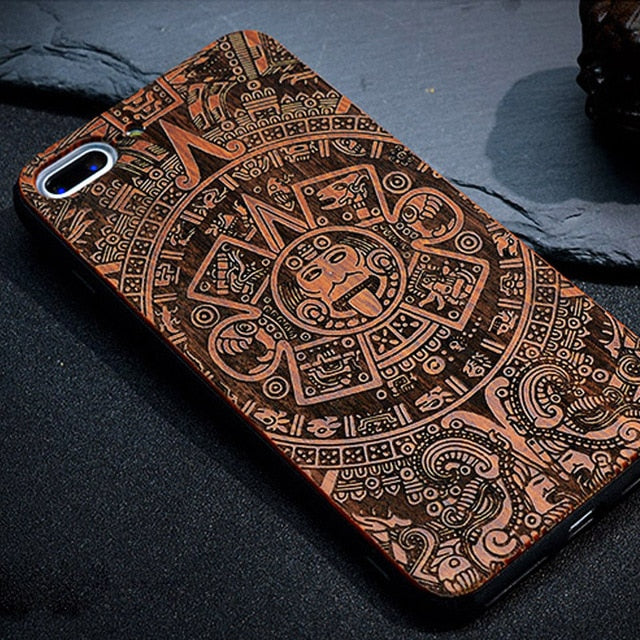 best service 14fab b7150 BROEYOUE Wood Case For iPhone 5S 5 SE 6 6S Plus Bamboo Wooden TPU ...