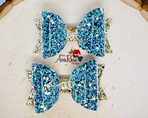 Snowy Evergreen Tinsel bow