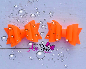 Pool bows~ Orange piggies