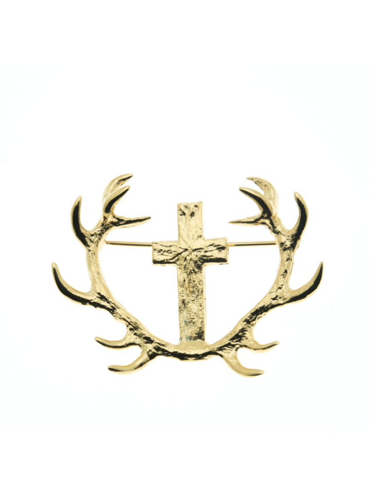 BROCHE MASSACRE CROIX DE ST HUBERT