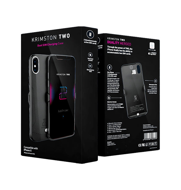 Krimston TWO™ Dual Sim Charging Case for iPhone