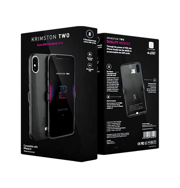 Krimston Dual SIM Case for iPhone 7 - White