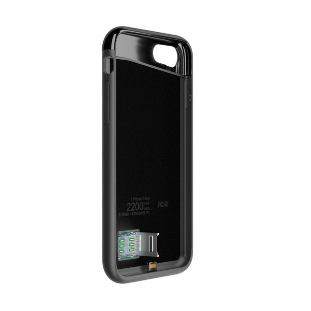 Krimston Dual SIM Case for iPhone 7 - Silver