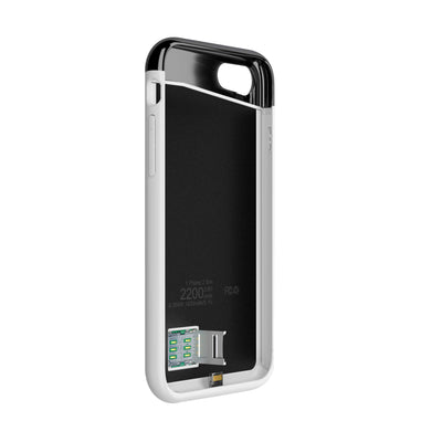 Krimston Dual SIM Case for iPhone 8 - White
