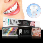 Mint Flavor Activated Charcoal Whitening Toothpaste (With Free Bamboo Toothbrush)