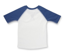 Load image into Gallery viewer, 3/4 Sleeve Baseball Tee - Navy - Lilac + Mae