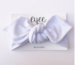 White Top Knot Headband - Lilac + Mae