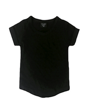 Load image into Gallery viewer, Black Basic Swoop Tee - Lilac + Mae