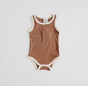 Ribbed Bodysuit/Bloomer - Chocolate - Lilac + Mae