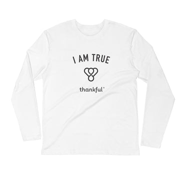 """I am True"" Emblem Long Sleeve Men's Crew T-Shirt"