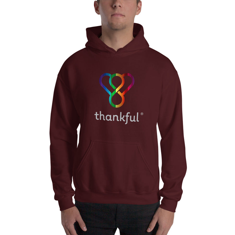 "Thankful ""Rainbow"" Unisex Heavy Blend Hooded Sweatshirt"