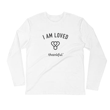 """I am Loved"" Emblem Long Sleeve Men's Crew T-Shirt"
