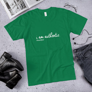 """I am Authentic"" Script Short Sleeve Men's Jersey T-Shirt"