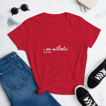 """I am Authentic"" Script Short Sleeve women's T-Shirt"