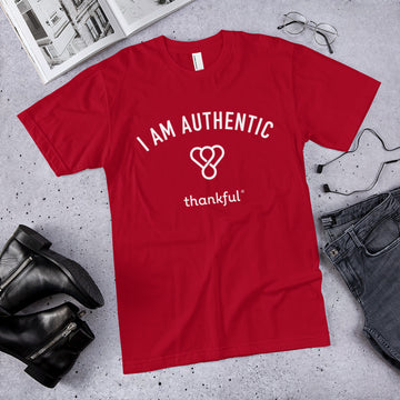 """I am Authentic"" Emblem Short Sleeve Men's Jersey T-Shirt"