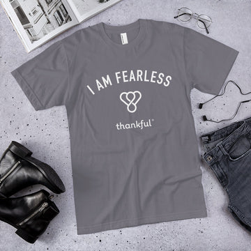 """I am Fearless"" Emblem Short Sleeve Men's Jersey T-Shirt"